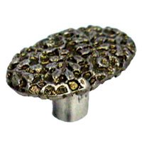 LW Designs - 5 - Cottage Lace Oval Knob in Pewter Matte