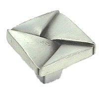 "LW Designs - Deco - Dijon Square Knob - 1 1/4"" in Pewter Matte"