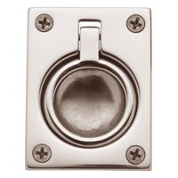 "Baldwin Hardware - PVD - 2 1/2"" Recessed Ring Pull in Lifetime PVD Polished Nickel"