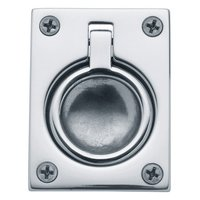 "Baldwin Hardware - Polished Chrome - 2 1/2"" Recessed Ring Pull in Polished Chrome"