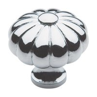 "Baldwin Hardware - Polished Chrome - 1 3/16"" Diameter Melon Knob in Polished Chrome"