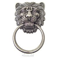 Bosetti Marella - Old Iron Ring Pull - Lion Head Ring Pull Large in Old Iron