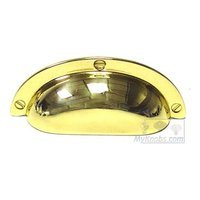 "Bosetti Marella - Polished Brass Cabinet Hardware - Bin Cup Pull 2 1/2"" in Polished Brass"