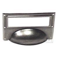 Bosetti Marella - Old Iron Cup Pull - File Cabinet Label Holder in Old Iron