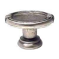 Bosetti Marella - Old Iron Cabinet Knob and Backplate - Oval Knob in Old Iron