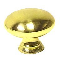 "Bosetti Marella - Polished Brass Cabinet Hardware - Knob 1 3/16"" in Polished Brass"