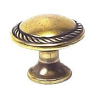 "Bosetti Marella - Antique Brass Light - Rope Knob 1"" in Antique Brass Light"