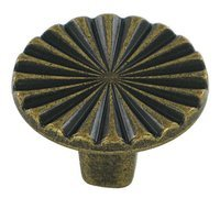 "Bosetti Marella - Contemporary Expression - 1 1/8"" Knob in Antique Brass Dark"