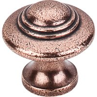 Top Knobs - Britannia - Ascot Knob Old English Copper 1 1/4""
