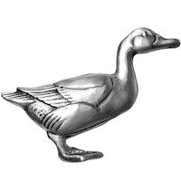 Big Sky Hardware - Animals - Duck Knob in Pewter