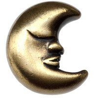 Big Sky Hardware - Kids & Teens - Large Moon Knob in Antique Brass