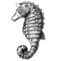 Big Sky Hardware - Animals - Sea Horse Knob in Pewter