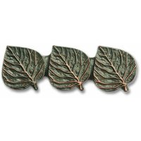 Novelty Hardware - Leaves And Trees - Triple Leaf Pull in Antique Brass