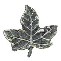 Novelty Hardware - Leaves And Trees - Leaf #4 Knob in Antique Brass