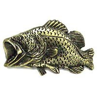 Novelty Hardware - Fish - Pro Bass Knob in Antique Brass