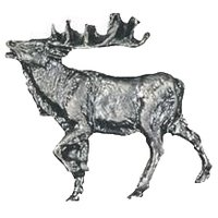Novelty Hardware - Wildlife - Walking Elk Knob Facing Left in Antique Brass