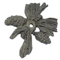 Carpe Diem Hardware - Oak Hollow Pinecone - Pinecone Backplate in Cobblestone