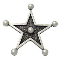 Carpe Diem Hardware - Oak Hollow Star - Western Star Knob in Cobblestone