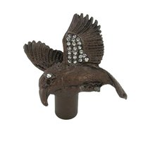Carpe Diem Hardware - Oak Hollow In the Garden - Hummingbird Knob w/ Swarovski Crystal Accents in Cobblestone