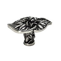Carpe Diem Hardware - Oak Hollow Waterscape - Double Lily Pad Large Knob in Antique Brass