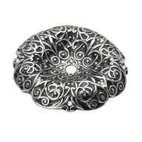 Carpe Diem Hardware - Monticello - Large Round Escutcheon with Swarovski Elements in Cobblestone with Crystal