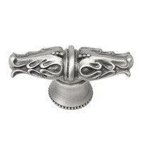 Carpe Diem Hardware - Acanthus - Acanthus Leaves Large Knob With Flared Foot Romanesque Style in Cobblestone
