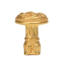 Carpe Diem Hardware - Acanthus - Beaded Knob with Column Base in Cobblestone