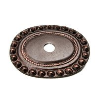 Carpe Diem Hardware - Backplate - Large Oval Backplate in Cobblestone