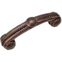 "Carpe Diem Hardware - Quick Ship Oil Rubbed Bronze Pulls - 3"" Pull w/ Beads and Rope in Oil Rubbed Bronze"