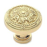 "Classic Brass - St. Georges - Polished Brass Knob 1 1/4"" (32mm)"