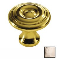 "Colonial Bronze - Antimicrobial Agion Knobs - 5/8"" Diameter Knob in Satin Brass"