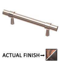 "Colonial Bronze - Pulls - 3 1/2"" Centers Pull in Matte Antique Copper and Antique Copper"
