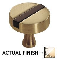 "Colonial Bronze - Split Finish - 1 1/4"" Knob In Polished Nickel And Polished Nickel"
