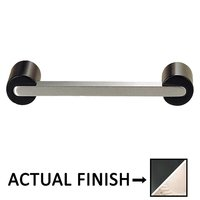 "Colonial Bronze - Pulls - 3 1/2"" Centers Pull in Matte Satin Black and Polished Nickel"