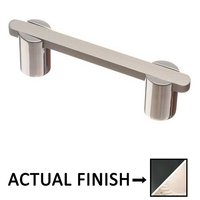 "Colonial Bronze - Pulls - 3"" Centers Pull in Matte Satin Black and Satin Bronze"