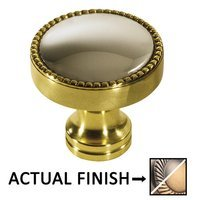 "Colonial Bronze - Split Finish - 1 1/4"" Knob In Pewter And Oil Rubbed Bronze"