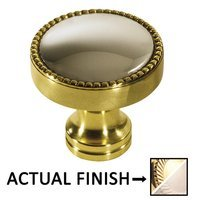 "Colonial Bronze - Split Finish - 1 1/4"" Knob In French Gold And Satin Nickel"