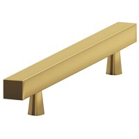 "Colonial Bronze - Antimicrobial Agion Pulls - 3"" Centers Square Bar Pull in Satin Brass"