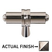 "Colonial Bronze - Split Finish - 2 1/4"" Overall Length T Shape Knob In Satin Nickel And Polished Nickel"