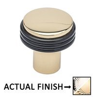 "Colonial Bronze - Split Finish - 1 1/4"" Diameter Knob In Polished Nickel And Polished Nickel"