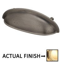 "Colonial Bronze - Pulls - 3"" Centers Oval Cup Pull in Satin Bronze"