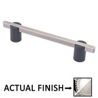"Colonial Bronze - Appliance Pulls - 6"" Split Finish Surface Mount Pull in Polished Chrome and Satin Nickel"