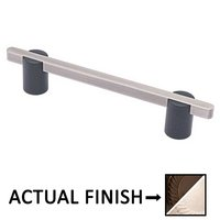 "Colonial Bronze - Appliance Pulls - 8"" Split Finish Surface Mount Pull in Oil Rubbed Bronze and Oil Rubbed Bronze"