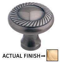 "Colonial Bronze - Antimicrobial Agion Knobs - 1 1/2"" Rope Knob in Satin Brass"