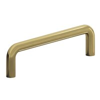 "Colonial Bronze - Antimicrobial Agion Pulls - 3 3/4"" Centers Wire Pull in Satin Brass"