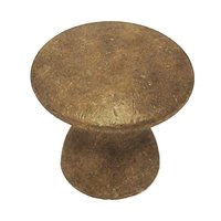 "Colonial Bronze - Quickship - Quick Ship Knob 1 1/4"" in Distressed Statuary Bronze"
