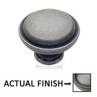 "Classic Brass - Classic - Marco 1 1/2"" (38mm) Knob in Weathered Pewter"