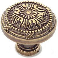 "Classic Brass - St. Georges - Polished Antique Knob 1 1/2"" (38mm)"