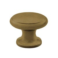 "Classic Brass - Classic - Lido Knob 1 1/8"" ( 29mm ) in Antique Burnished Brass"