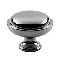 "Classic Brass - Hutter Classic - 1 1/2"" Diameter Knob in Antique Polished Silver"